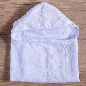Toalha de Banho de Bebê Laços Branco