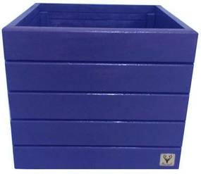 Vaso Madeira Cachepot ALCE COUCH Azul 36X40X40