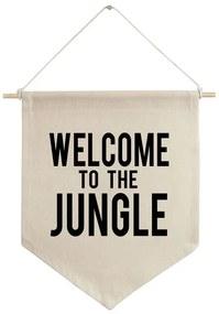 Flâmula de tecido Welcome to the jungle