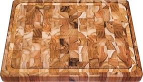 Tábua Retangular Churrasco Madeira Invertida Teca 50x38cm Tramontina
