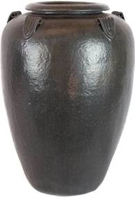 Vaso Vietnamita Cerâmica Importado Temple Jar Pequeno Lava D47cm x A65cm