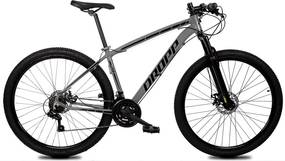 Bicicleta Z1-X Aro 29 Quadro 19 Alumínio 21 Marchas Freio Disco Mecânico Cinza Preto - Dropp