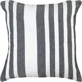 Almofada Black & White Listras de 40 x 40 cm