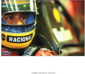 Poster Ayrton Senna - Capacete Amarelo (60x90cm, Apenas Impressão)