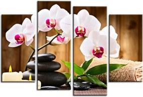 Quadro 70x100cm Flor Orquídea Decorativo Interiores Zen Spa Clínicas - Oppen House