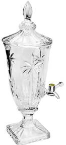 Suqueira De Cristal Ecológico Com Pé E Tampa Palm Tree 2 Litros 27575 Wolff