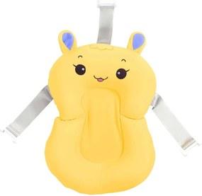 Almofada de Banho para Bebê Amarela