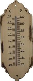 Termômetro em Metal Branc