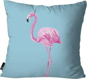 Almofada Mdecore Flamingo 35x35cm Azul