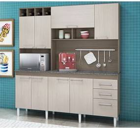Cozinha Compacta Malbec Avelã 7200 PT Móveis