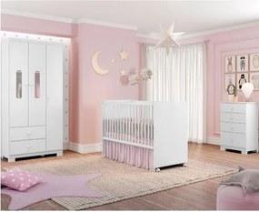 Quarto de Bebê Completo Sonhos Cherry - Branco