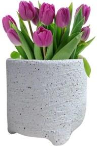 Vaso Decorando Com Classe Cerâmica Arenoso G 15 x 14cm