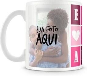 Caneca Personalizada Eu Te Amo - Rosa (2 Fotos)