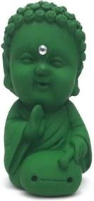Buda Baby com Tambor com Cristal (9cm) - Rústico