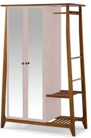 Armario Multiuso Stoka 2 Portas Rosa Claro Estrutura Amendoa 169cm - 60966 Sun House