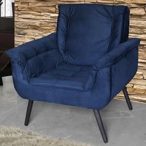 Poltrona Mônica 00603.1254 Azul Escuro - Matrix