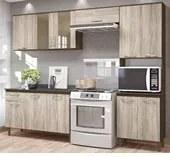 Cozinha Compacta Fit 1847.2 Com Balcão 1822.15 Amêndoa Rust Arezzo Rust Nicioli