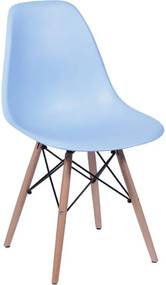 Cadeira Eiffel Infantil Base Madeira - Azul