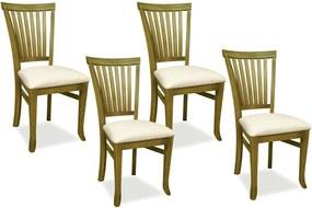 Kit 04 Cadeiras Para Sala de Jantar Cozinha Vitte Oregon Linho Rústico Bege - Gran Belo