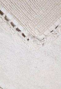 Tapete Kacyumara Crochê Retangular 60x90cm Branco