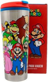 Copo Viagem 450 ml  Mario Bros Turma