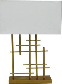 Abajur de Mesa em Metal Dourado - 57x41x21cm