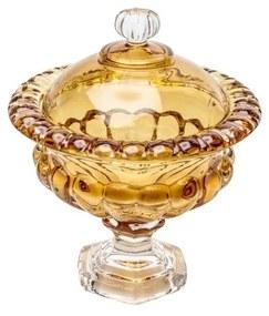 Potiche Decorativo De Cristal Sussex Âmbar 19,5x23cm 26452 Wolff