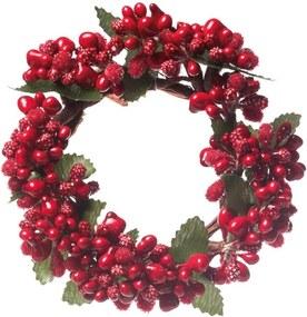Mini Guirlanda DecoraçÁo Natal Com Frutos 10 Cm Vermelho