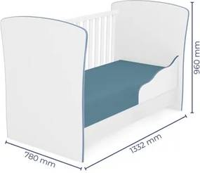Quarto de Bebê Completo Doce Sonho e Berço 2484 Branco/Azul - Qmovi