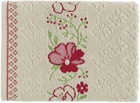 Toalha Karsten Yuna - Cor: Branco/Rosa - Tamanho: Banho 70 X 135 cm - Karsten