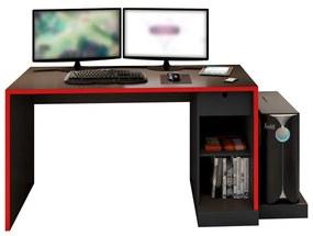Mesa Gamer PlayerXTreme Preto Texturizado/Vermelho - Gran Belo