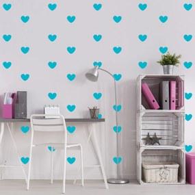 Adesivo de Parede Quartinhos Infantil Coração Azul Turquesa