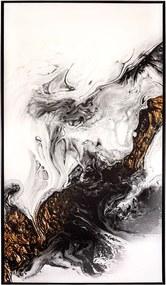 Tela Minerais em Canvas - 60x90cm - Moldura Preta  Kleiner Schein
