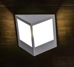 Arandela Triangulo Grande Branca para 1 Lâmpada