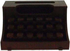 Maquina De Escrever Decorativa Marrom Madeira