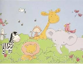 Papel De Parede Safari Friends Belga Sf6929