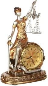 Escultura Dama da Justiça com Relógio
