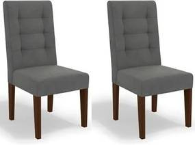 Kit 2 Cadeiras CAD111 para Sala de Jantar Walnut/Tornado - Kappesberg