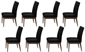 Conjunto 8 Cadeira Decorativa Luana Couríssimo Facto Preto