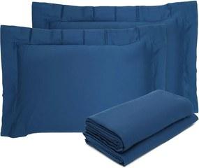Jogo de Cama 4pçs Queen Buddemeyer Budd Vision New Color 200 Fios Azul