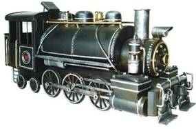 miniatura trem MARIA FUMAÇA metal 34cm Ilunato DR0044