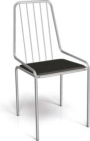 Cadeira Benim Cromada De Metal Preto Kappesberg