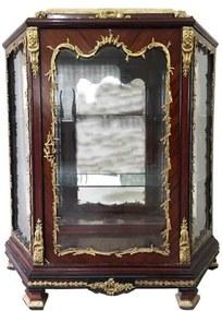 Cristaleira Imperial Francesa Tampo Mármore Crema