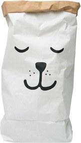 Cesto Le Pinpop Bag Urso Dormindo Branco