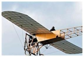 Quadro Decorativo Avião Vintage - KF 46811 40x60 (Moldura 520)