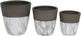 Conjunto de Cachepots de Cerâmica Marmorizado 3 peças