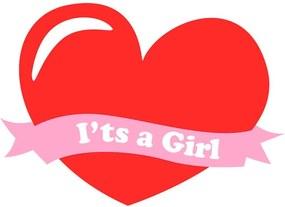 Adesivo de Parede Its a Girl Coração
