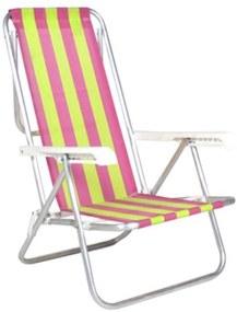Cadeira Reclinável 8 Posições Alumínio Multicolorido Belfix Amarela
