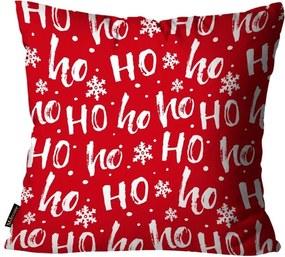 Capa para Almofada Mdecore Natal Ho ho ho ! Vermelha45x45cm