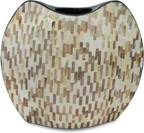 Vaso Decorativo em Madrepérola Bege Judy